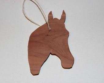 Silhouette Horse Head Ornament!