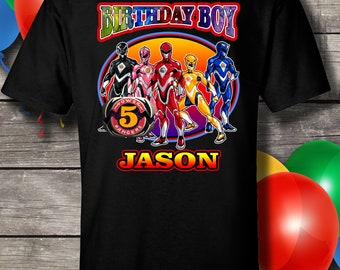 Power Rangers Birthday Shirt, Power Rangers, Birthday Shirt, Birthday, Shirt, Power Rangers, gift, birthday