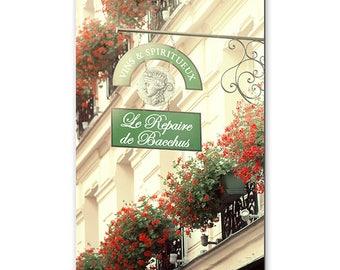 Canvas Print, Paris France, Fine Art Photography, Photos, Canvas Print, Le Repaire De Bacchus, French Wine, Travel, Shop Street Photography
