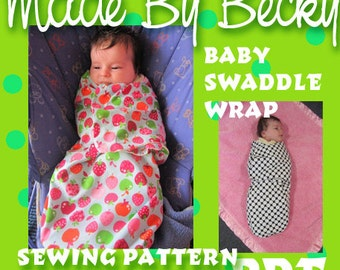 Swaddle Wrap for Baby Sewing Pattern PDF