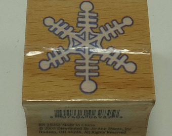 Snowflake Wood Mounted Rubber Stamp By JoAnn Crafts Snow, Winter, Holiday, Christmas, Holiday Season