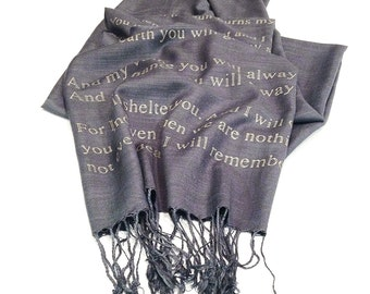 House of Leaves, You Shall Be My Roots, Quote Scarf, Literary Scarf, Poem, Poetry