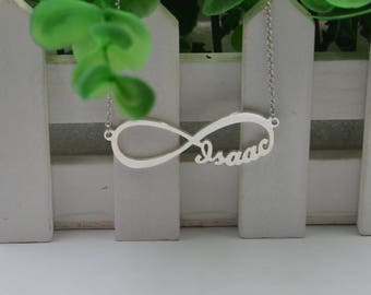 Infinity necklace-Personalized infinity necklace-925 Sterling Silver Name Necklace,custom Any Name-Christmas gift
