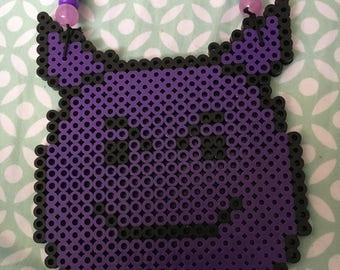Devil emoji perler necklace