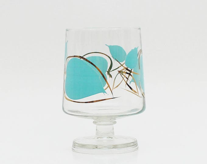 Vintage 1960s Painted Glass Candle Holder - Home Decor