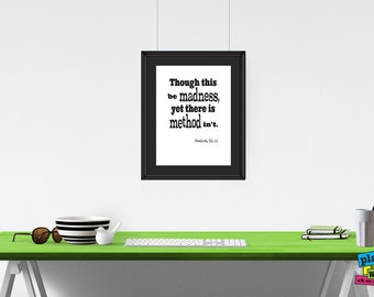 Shakespeare Quote, Hamlet Quote, Printable Wall Art, Printable Art, Dorm Decor, Quote Print, Poster, Office Décor, Theatre Quote
