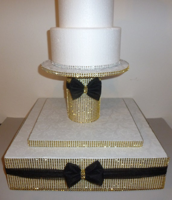 gold bling wedding cake stand gatsby gold bling faux rhinestone wedding cake pop stand black 14747