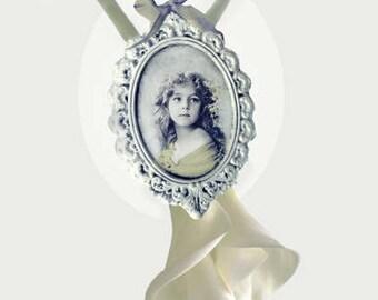 Angel Necklace (Illustration-print/print-collage-decor-home-gift) Valentine's Day original gift!
