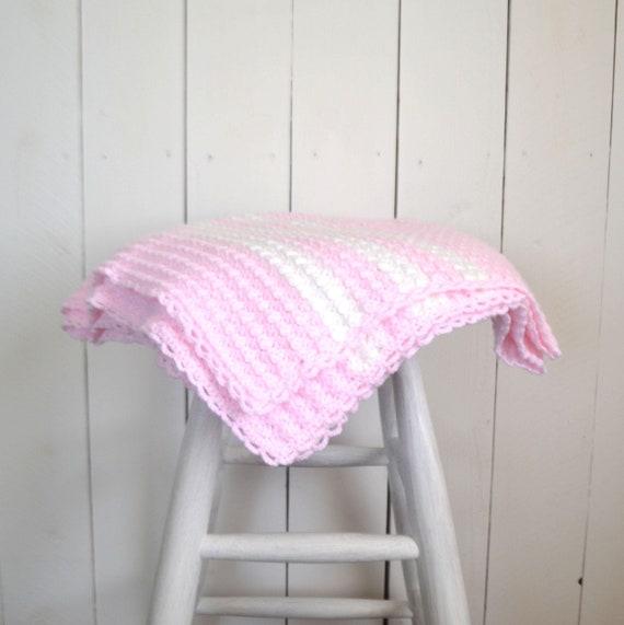 Häkeln Baby Decke Handarbeit Mädchen Decke rosa Schale Stich