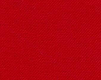 10 oz Brushed COTTON Twill Upholstery Slipcover Fabric RED Medium Weight Multipurpose