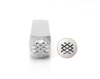 Impress Art 5mm Crosshatch Texture Metal Design Stamp - Metal Stamp - Metal Stamping and Jewelry Tool - SGSC1528-C-6MM