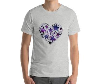 Heartful of Stars Short-Sleeve Unisex T-Shirt by Starfire