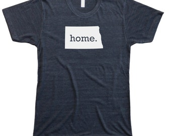 Homeland Tees Men's North Dakota Home T-Shirt