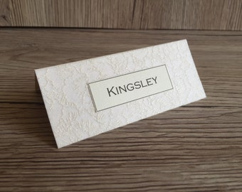 Wedding place cards, name card, table place setting, Alexandria style, wedding stationery, place settings, matching stationery