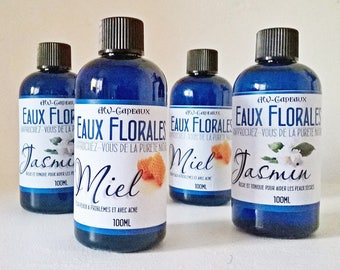 Water floral Jasmine/Hydrosol of jasmine, lotion-dry skin tonic, cleansing lotion, water care, cleansing the skin moisturized