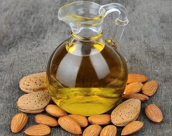 8 oz Pure Sweet Almond Oil Carrier Oil Base Oil for Soapmaking, lotions, massage, scrubs, skincare
