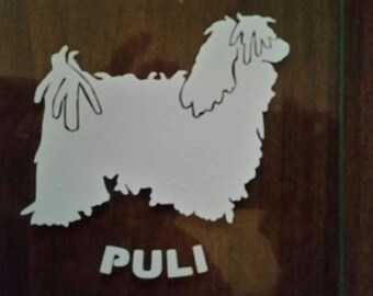 Puli Vinyl Decal, Car window Decal