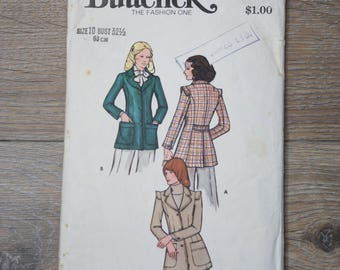 1970s Fitted Jacket Pattern Size 10, Vintage tailored jacket, 70s Blazer, 70s dressmaking, Butterick pattern 6862