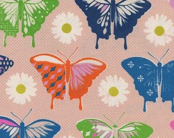 Flutter - Butterflies in Peach - Melody Miller for Cotton + Steel - 0057-02 - Half Yard