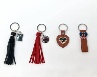 Custom Photo Tassel Keychain
