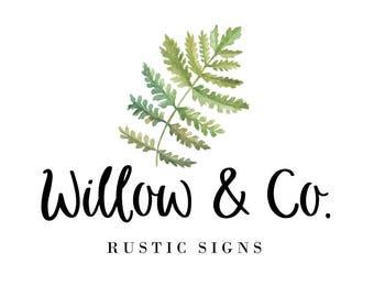 Greenery Logo, Nature Logo, Photography Logo, Watercolor Logos, Premade Logos, Rustic Logo, Farmhouse Style, Business Logos, Fern, No. 26