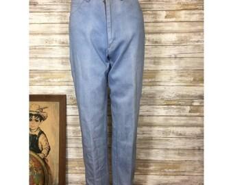 Vintage 80s P.S. Gitano high rise light wash denim jeans