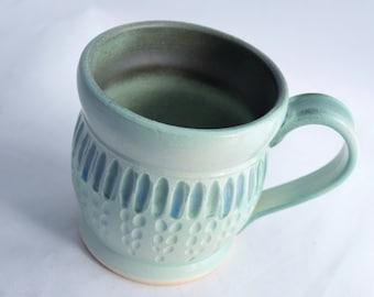 Coffee Mug in Sea Green - Ceramic Stoneware Pottery