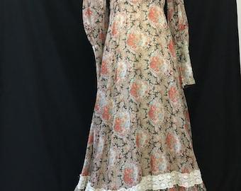 Romantic Black Label Gunne Sax Maxi Dress Size 11