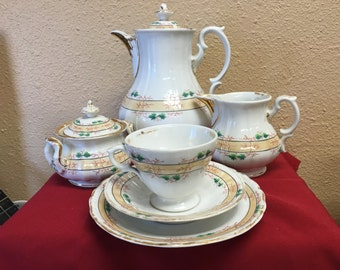 Vintage KPM Coffee/Tea Service For Six