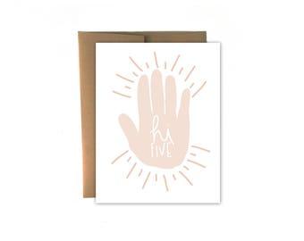 Hi Five Congratulations Card