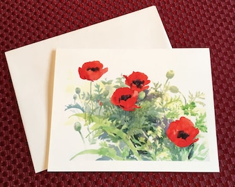 Notecard - Poppies