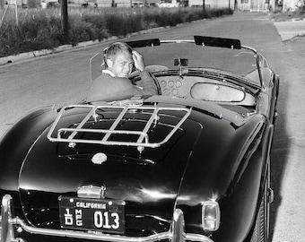 Steve McQueen King of Cool AC Cobra California plates 8x10 photo