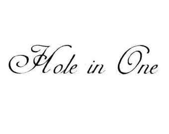 Hole in One unmounted golf rubber stamp, golfing, Sweet Grass Stamps #14