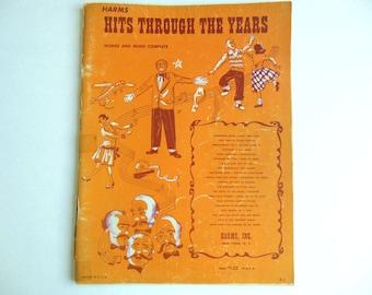 Vintage Music Book Sheet Music 1951 Hits Songs