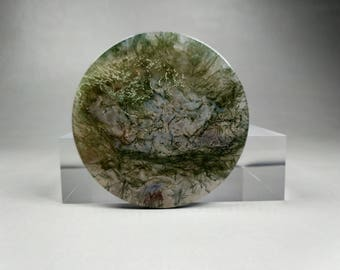 A  Natural Moss Agate Cabochon #MA-004