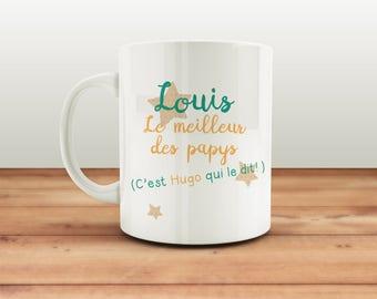 Mug customizable front the best grandpas - customize it! Original gift