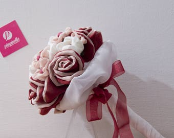 Red and pink fabric Bouquet