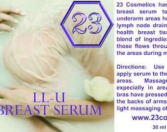 LL-U Breast Massage Serum for Lymph Node Drainage and Breast Health