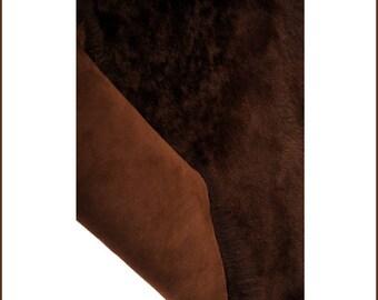 A462-S-Tuscany dark brown lamb skin.