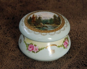 Antique Porcelain Trinket Box