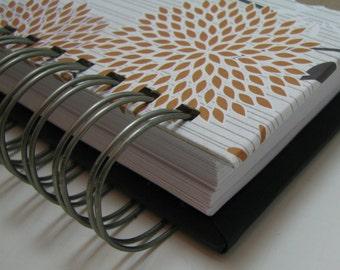Planner - Agenda - Weekly Planner - Organizer Planner - Weekly Agenda - Unique Planners - Organizer - Wirebound - To Do List - Gold Floral