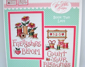 Sue Hillis Counted cross stitch pattern, Blessings and Blooms.