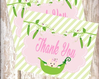 Sweet Pea Thank You's baby shower-new  baby - baby sprinkle-Sweet Pea Birthday