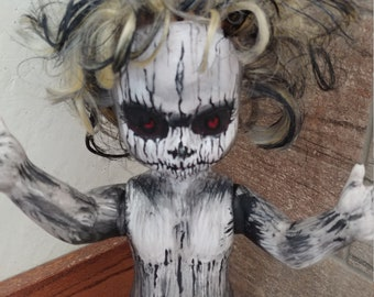 Ooak painted horror doll