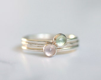Set of 3 Silver stacking rings - stacking rings set - skinny ring set