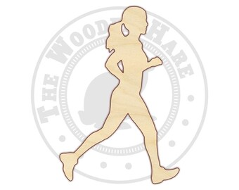 Runner - Running - Runner Girl -  Female Runner - Wood Cutout - 170414