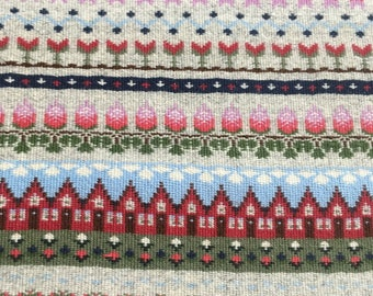 """Wall hanging lovely color,hand woven with """"Rosengång and Gubbatäcke"""". summer pattern"""