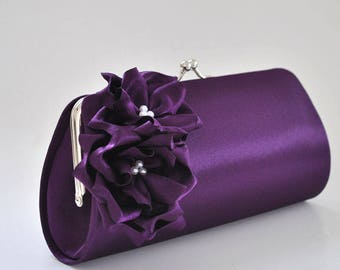 Deep Purple Clutch - Bridesmaid Clutch / Bridal clutch / Prom Clutch / Wedding clutch / Custom clutch