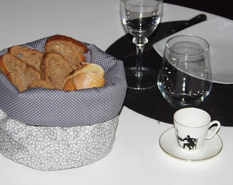 Grey reversible storage basket