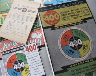 Vintage 400 Game, 1933, Complete with Brass Spinner, 8 Subject Books and Score Sheets